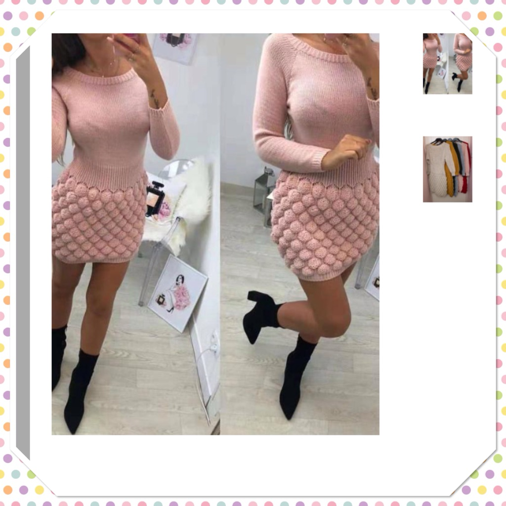Cadie bubble knit dress