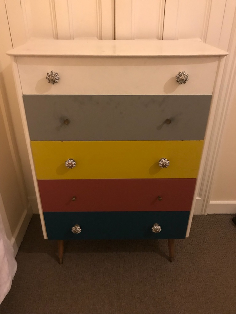 Vintage wardrobe & chest of drawers set