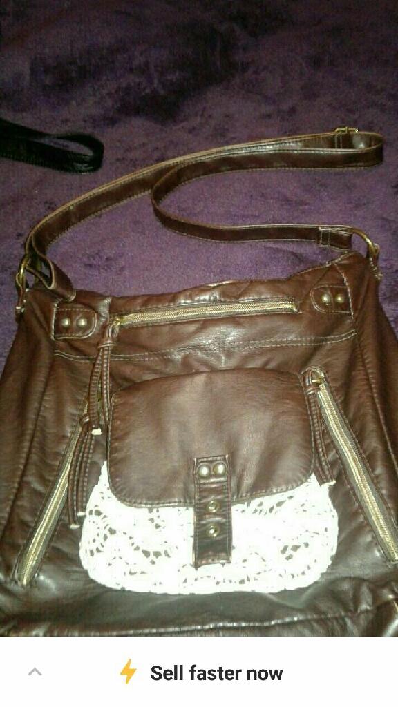 Black, brown handbag purses
