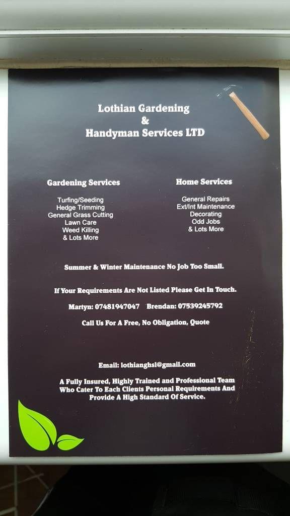Lothian gardening and handyman services