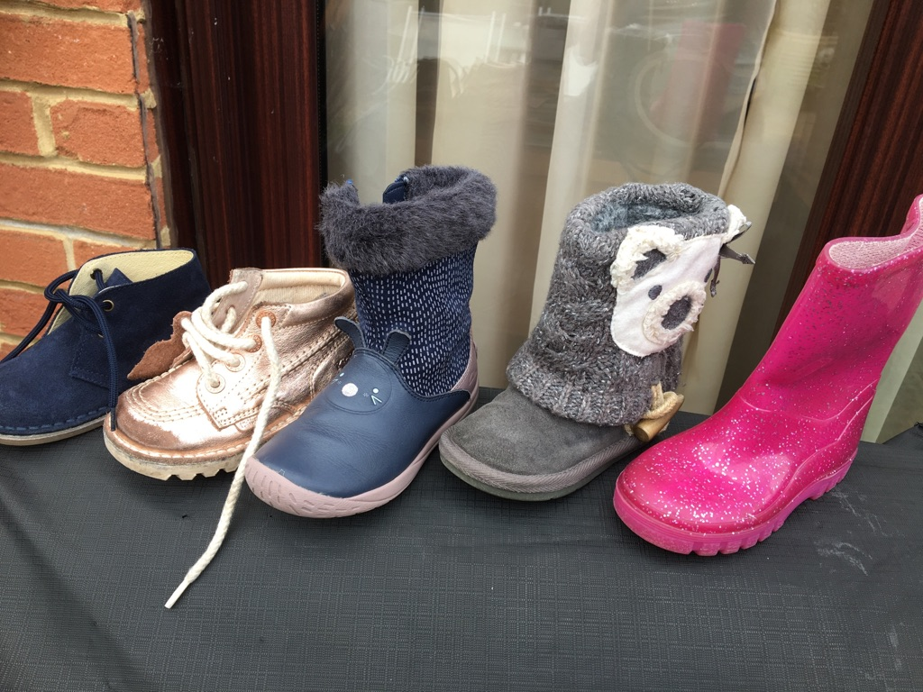 Toddlers assortment of boots