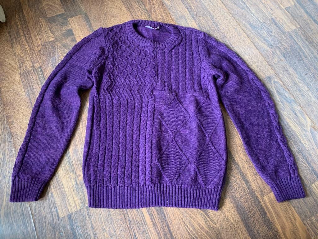 Girls purple jumper 11-12 years