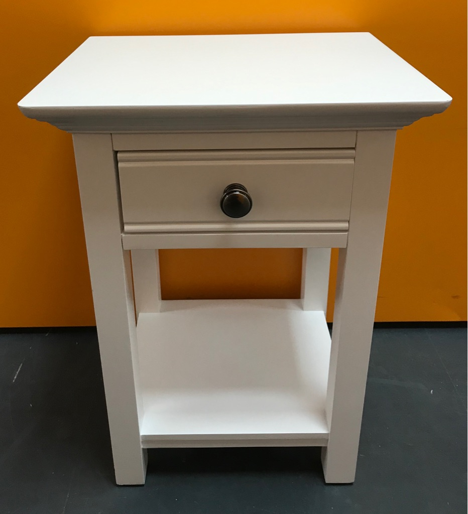 New White! Bedside Cabinet 56x33x40cm