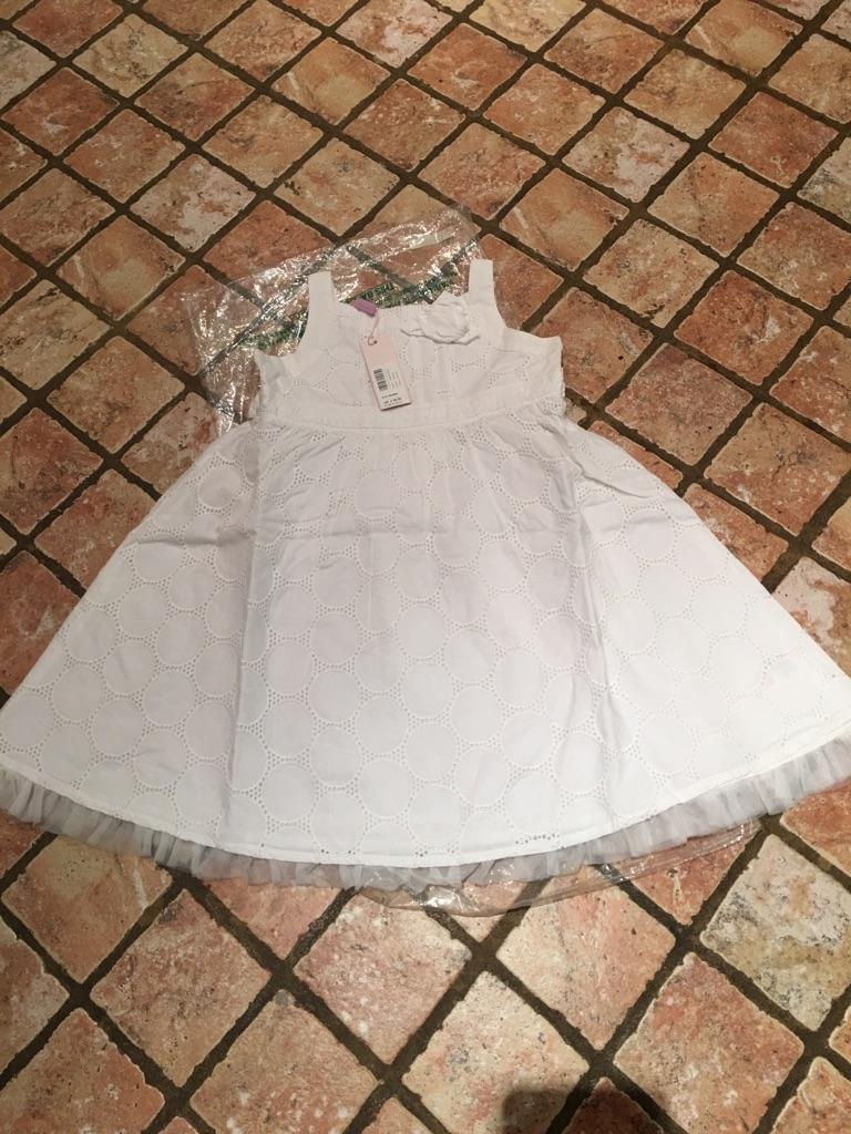 White dress for 2-3yr girl - party, christening or flower girl