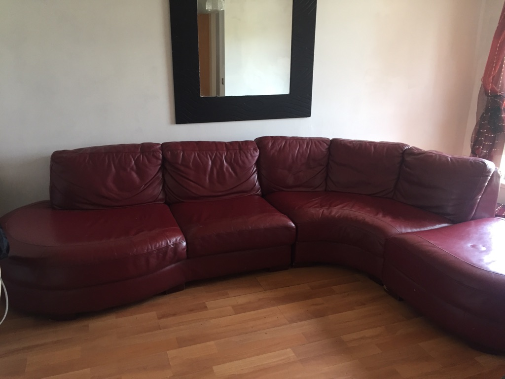 Corner sofa & Large mirror