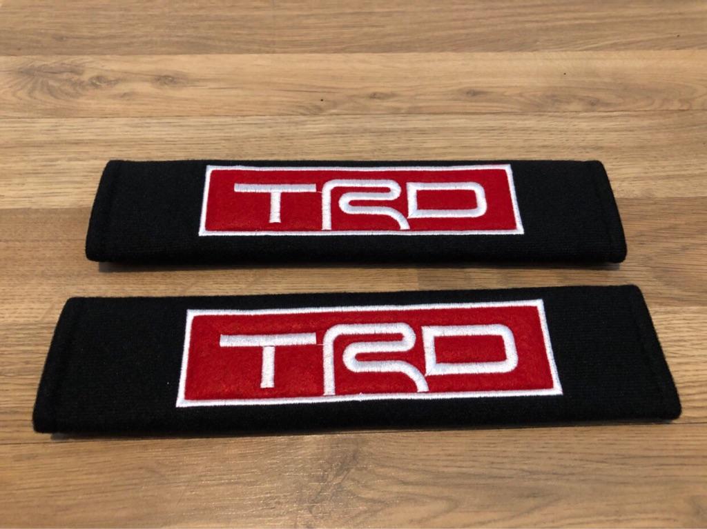 2X Seat Belt Pads Gift TRD Motorsport Tuning Racing Sport Ralli Turbo Avensis