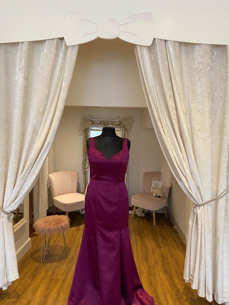 Mori lee mulberry fishtail dress