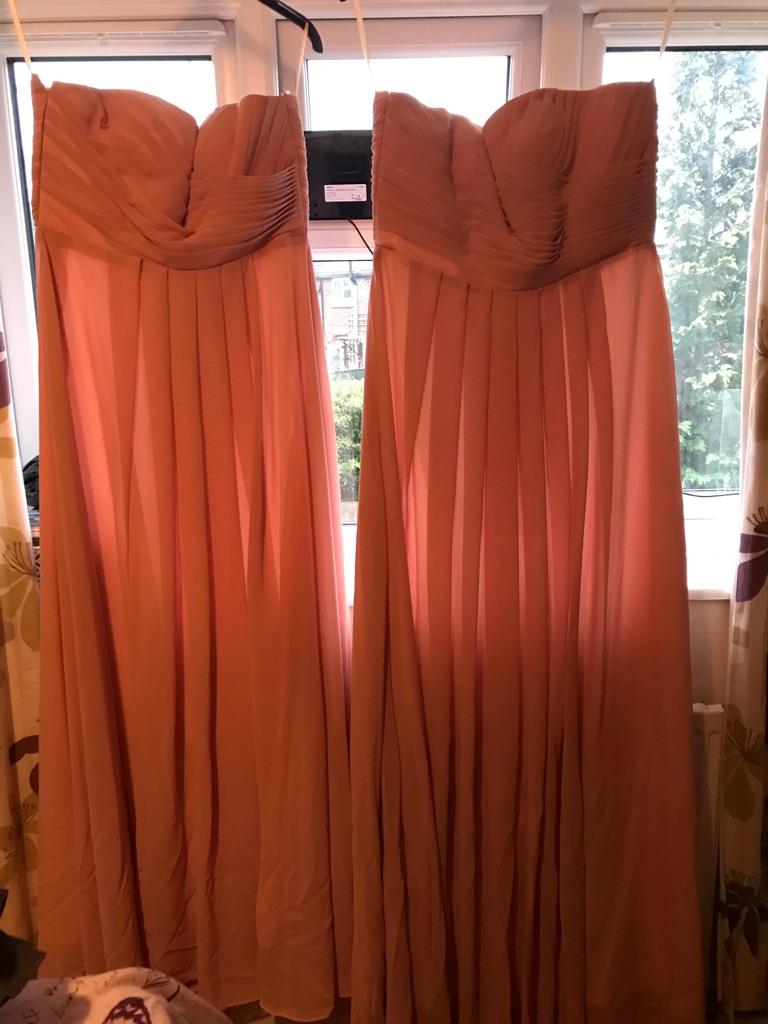 2 bridesmaid dresses. Dusky pink. Brand new never worn