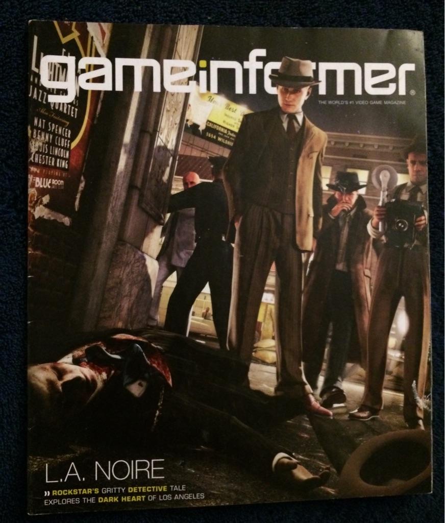 Game Informer Magazine L.A Noire 🎮🗞🕵🏻♂️