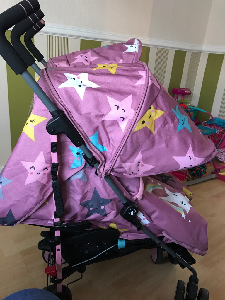 Cosatto happy star double pushchair