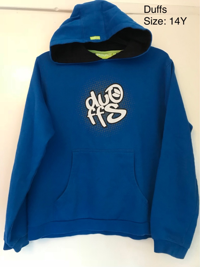 Duffs Hoodie Jumper, 14yrs, Very Good Condition