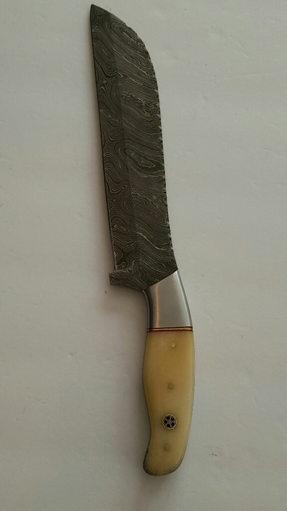 Custom handmade Damascus steel blade chef kitchen knife