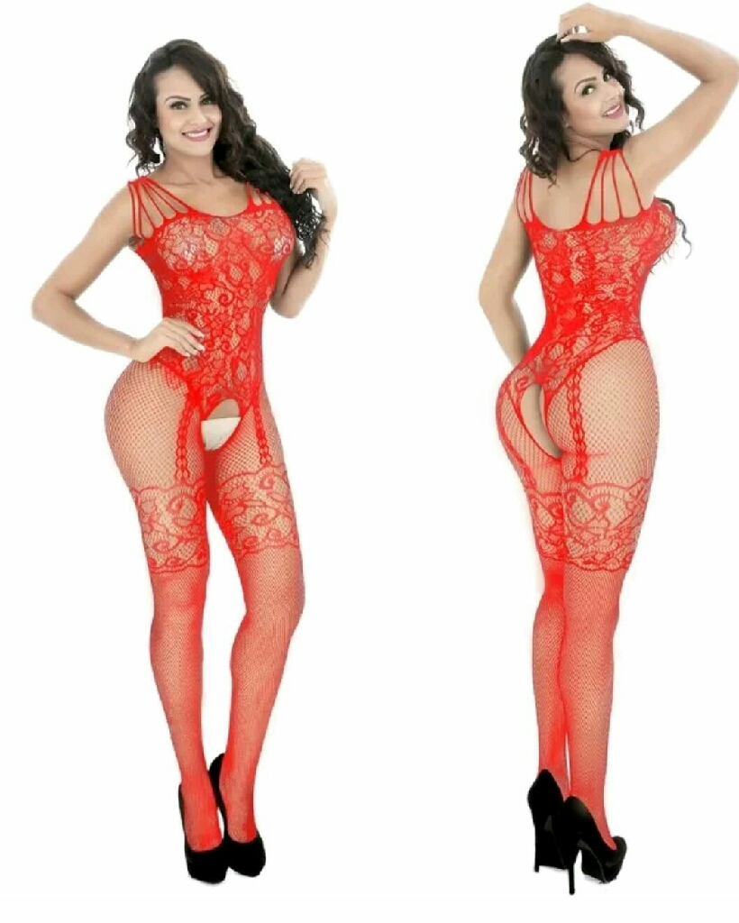 One size fits xs-xl fishnet crotchless bodystockins