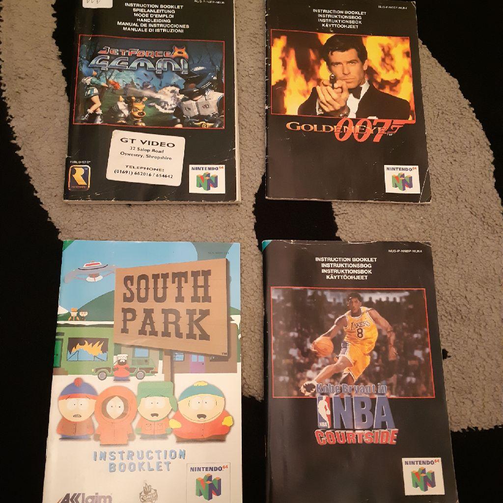 N64 game booklets