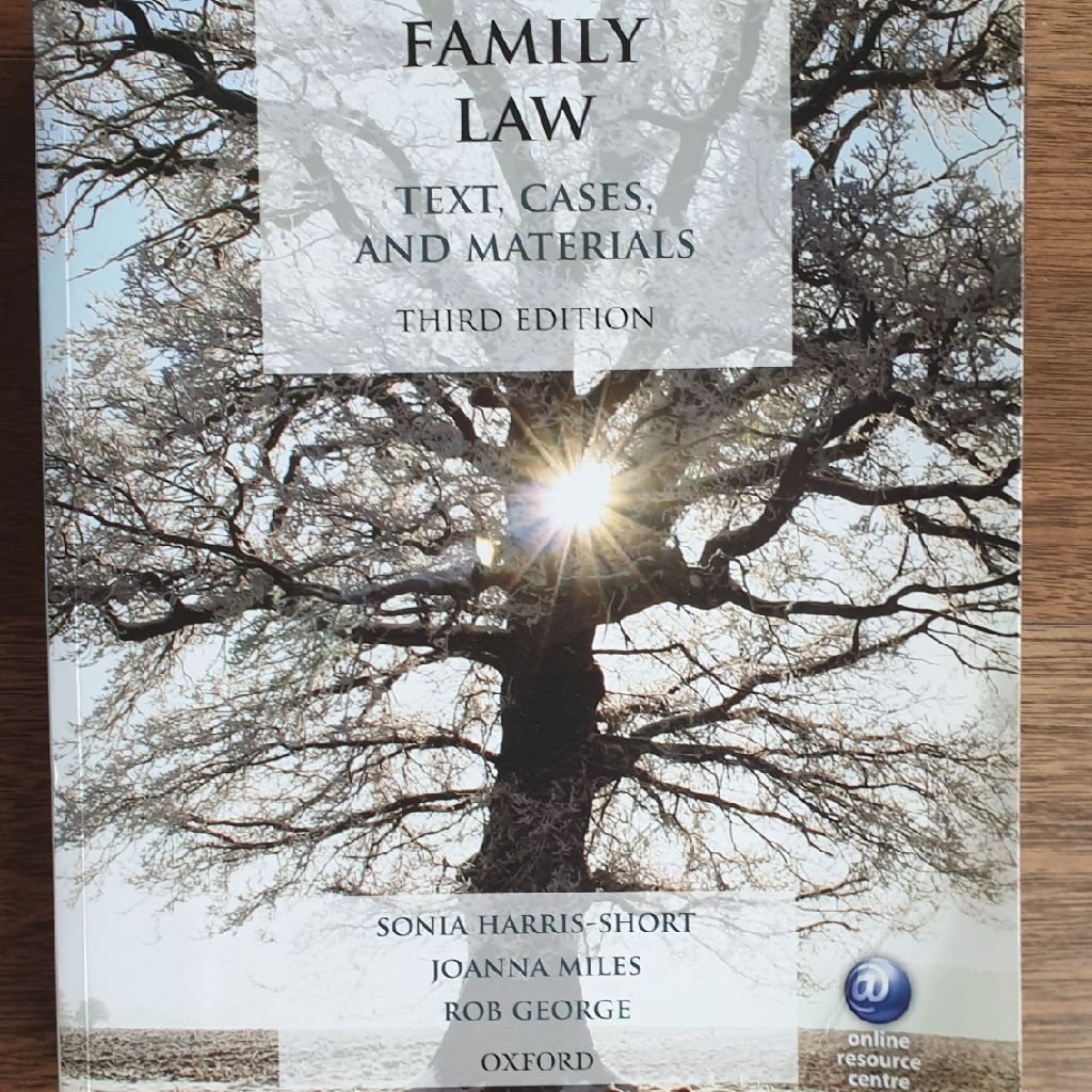 Family Law text book by Miles J., Harris-Ahort S., George R.