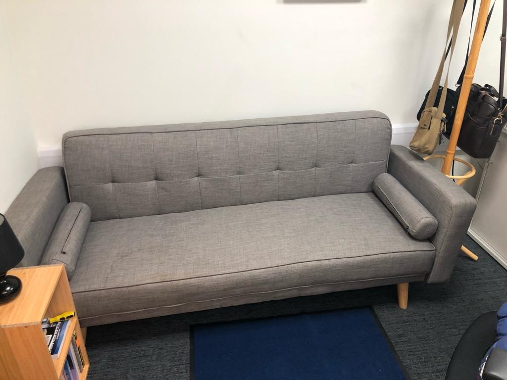 Funky grey Scandinavian style sofa bed