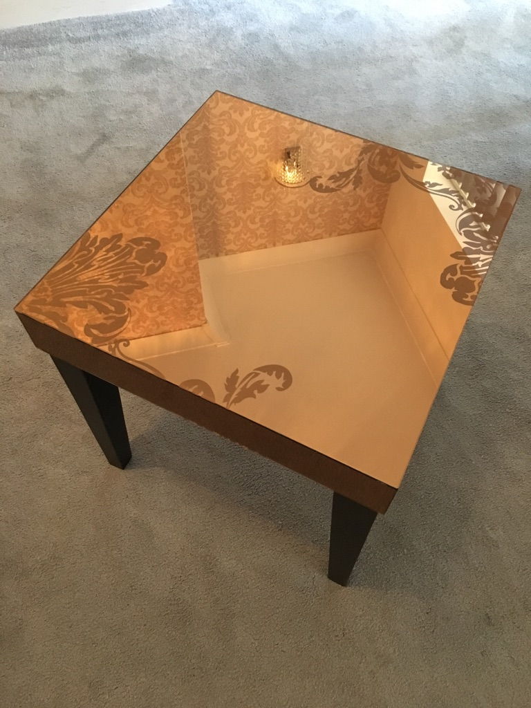 Small mirrored table