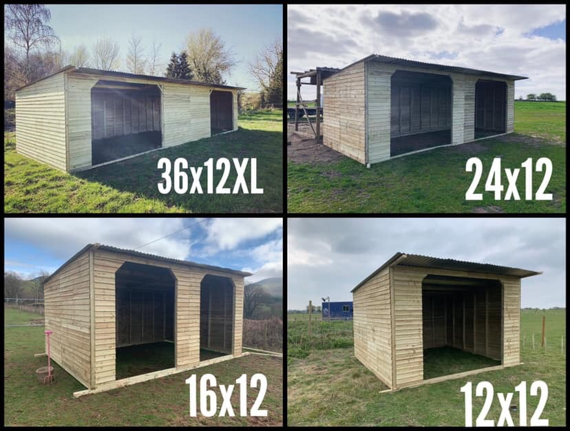 Sheds... field Shelters... bin & log stores..gates..etc