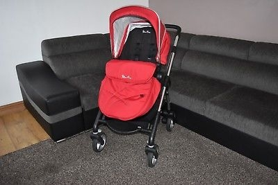 Silvercross wayfarer travel system pram chilli red - carrycot - stroller - buggy - carseat