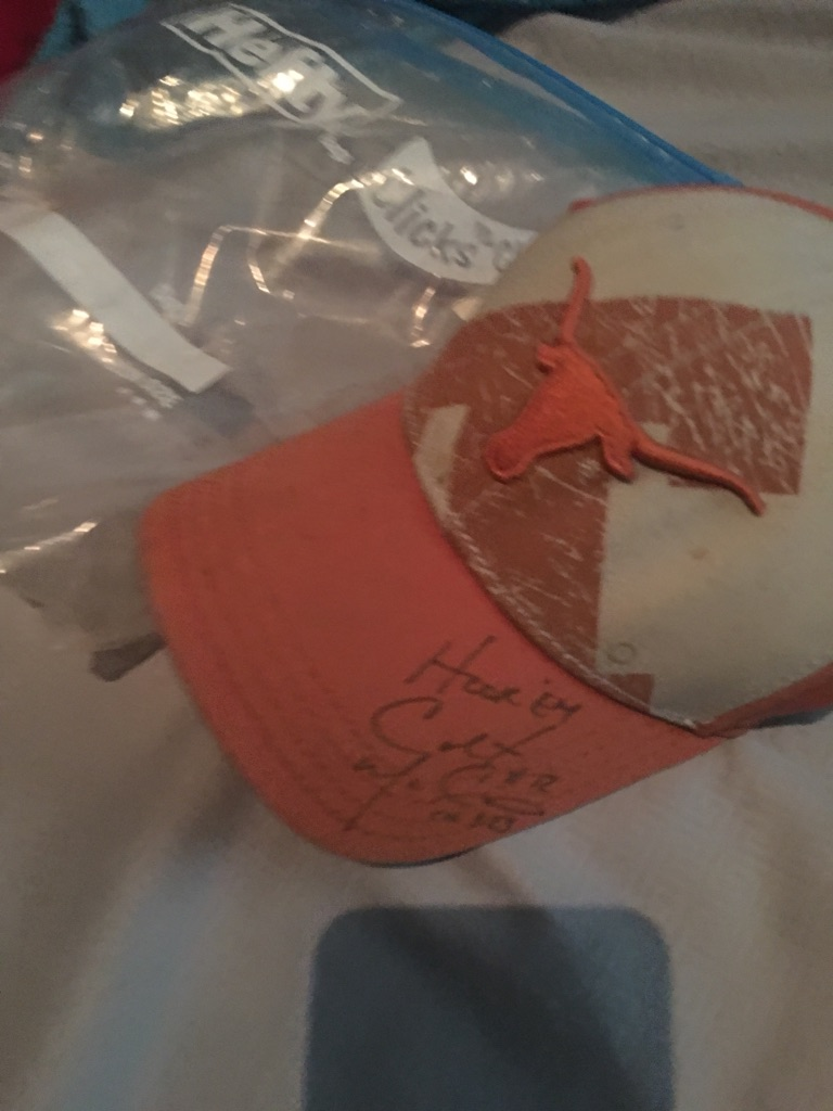Signed colt McCoy Texas hat