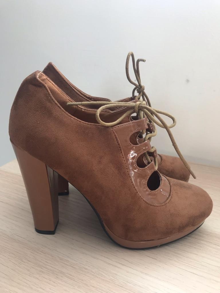 Beauty Girl, Camel High Heel Boots, UK size 6
