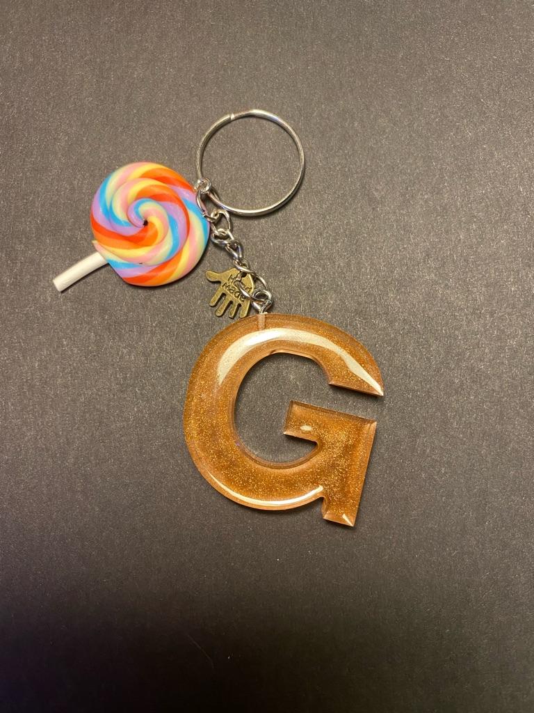 Handmade Keychain Initial