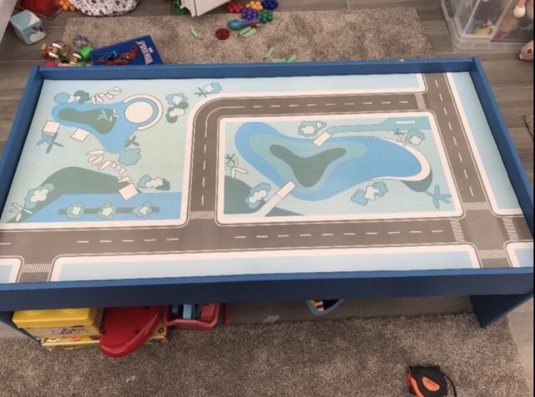 Children's kids wooden toy table