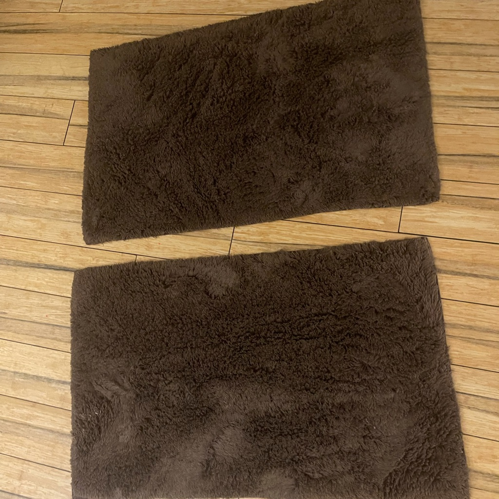 Cocoa Brown Plush Cotton Bath Mats