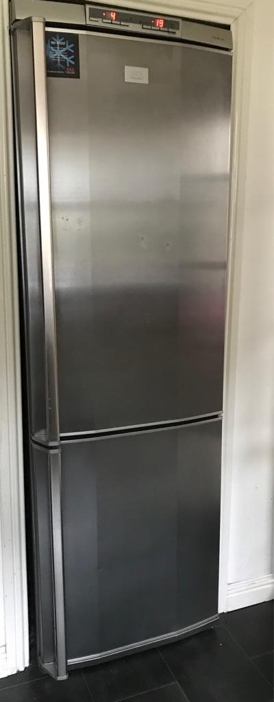 AEG silver fridge freezer