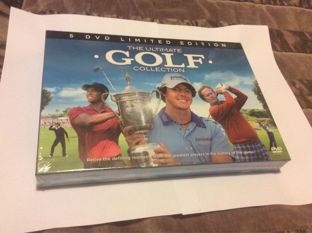 5 DVDs golf