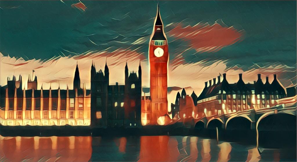 Londons Big Ben skyline canvas print wall hanging
