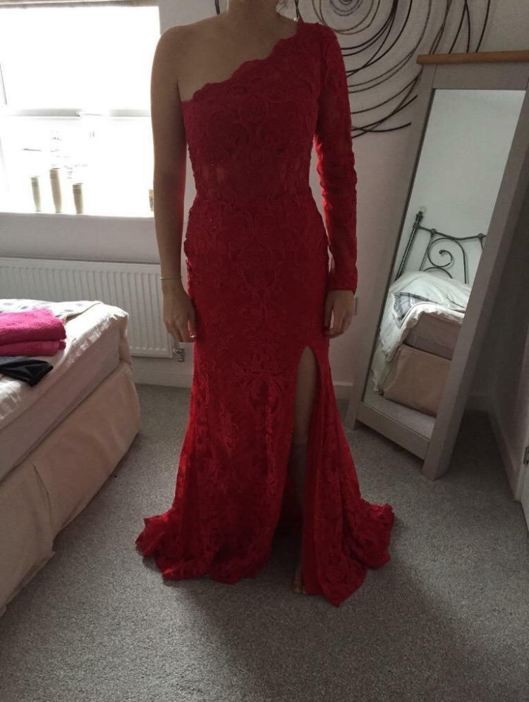 Morilee red prom dress size 8-10