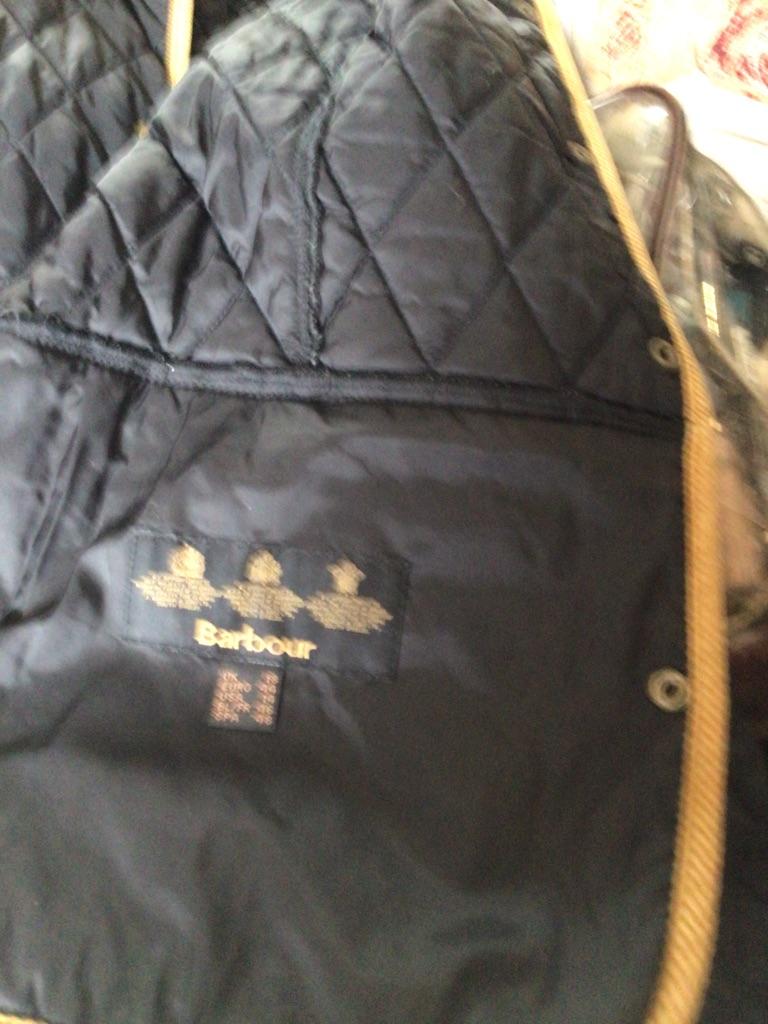 Ladies genuine Barbour jacket black