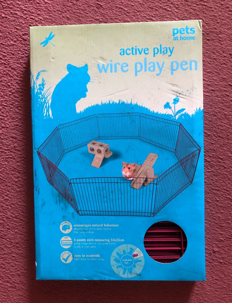 Pets at home wire play pen
