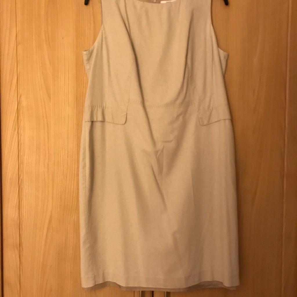 Tunic dress beige linen size 18