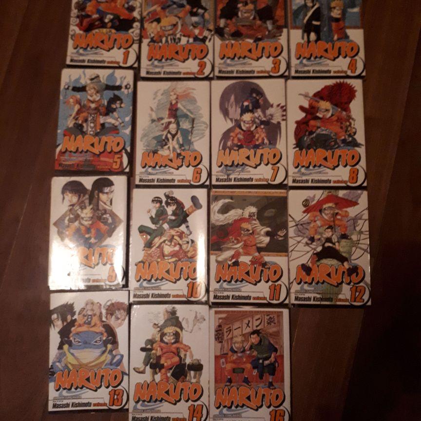 Naruto books 1 to 16