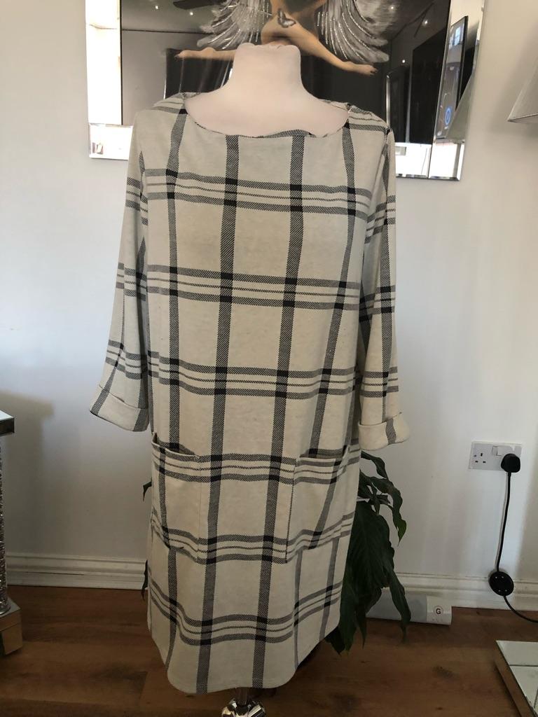 Women's beige black dress By Primark size 16