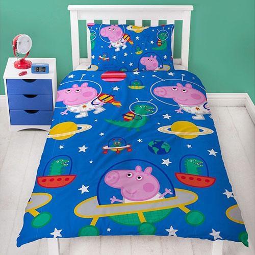 Official George pig 'planet' duvet set