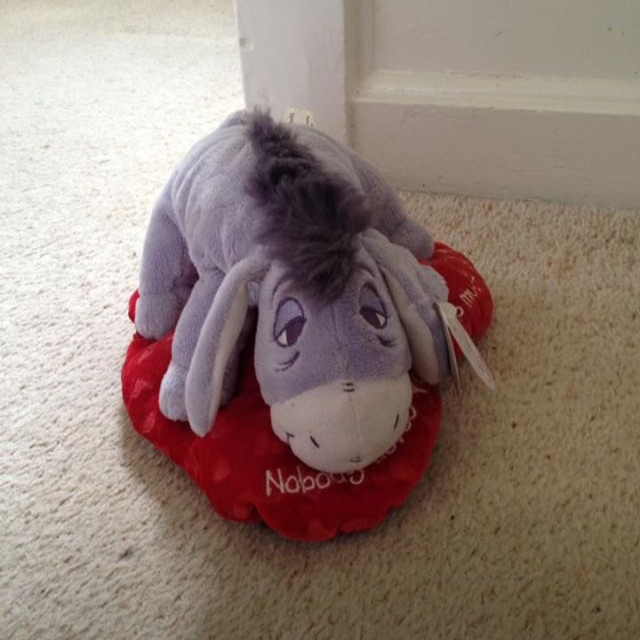 Disney Eeyore Love Heart Teddy