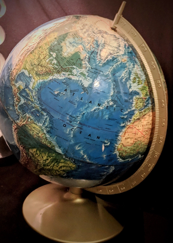 Rand McNally World Portrait Globe 1968