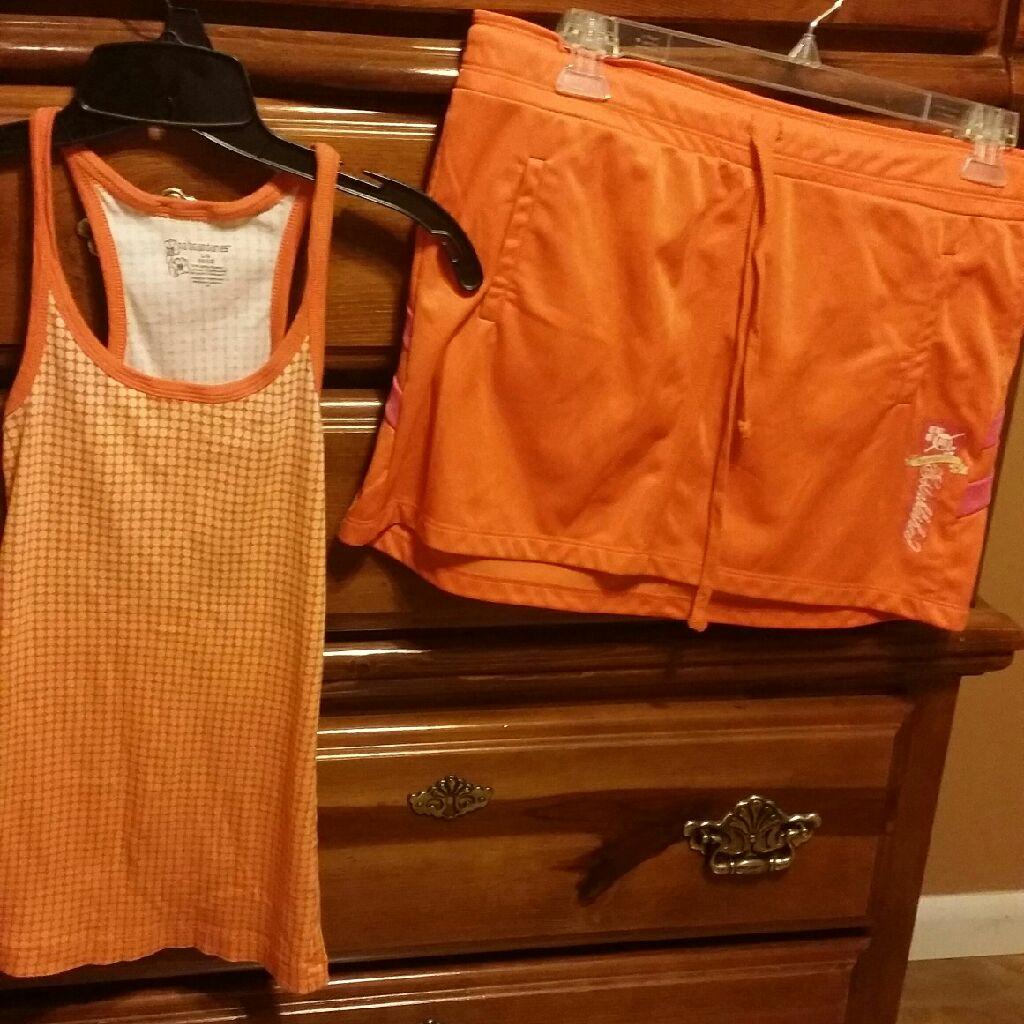 Two piece set, top, size L, skirt XL