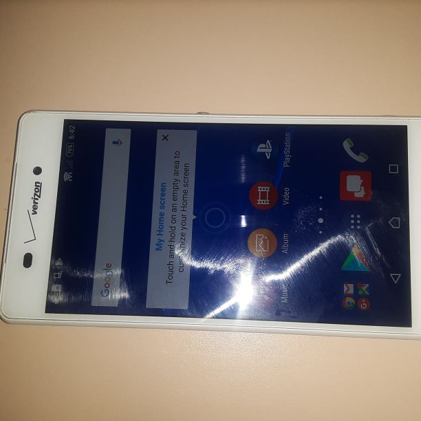 Like New Sony Ericsson Xperia z3v Verizon/T-Mobile/MetroPCS/AT&T/Cricket Phone Unlocked Clear ESN White