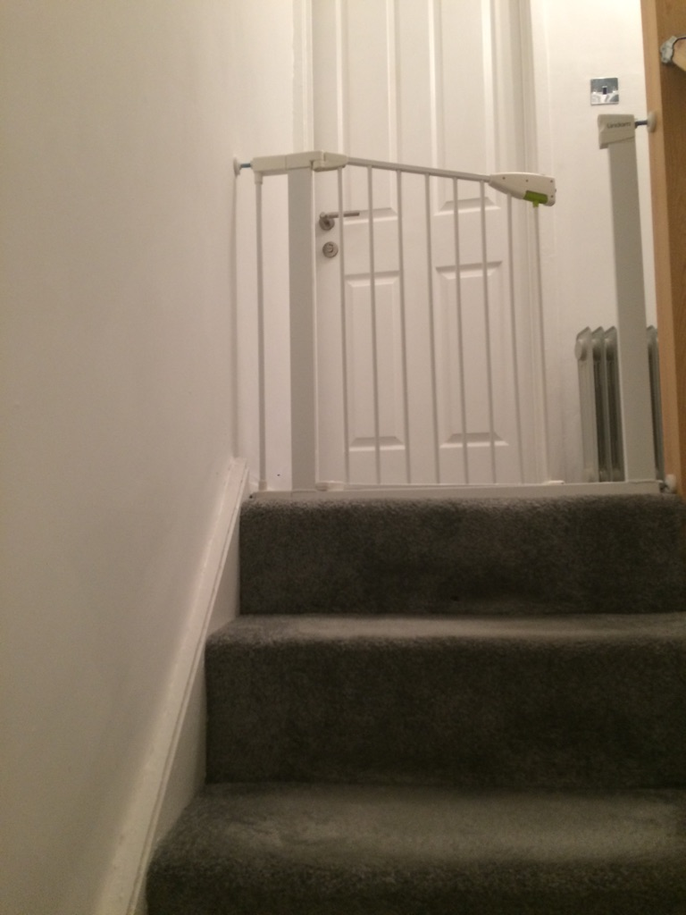 Linden pressure fit safety gate with extension