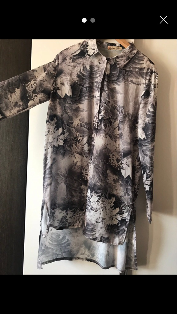 Dipped hem womens shirt