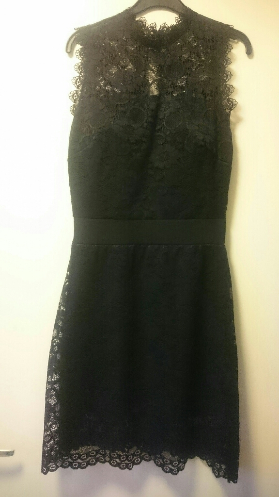 Black lace dress size S