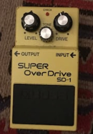BOSS overdrive guitar pedal