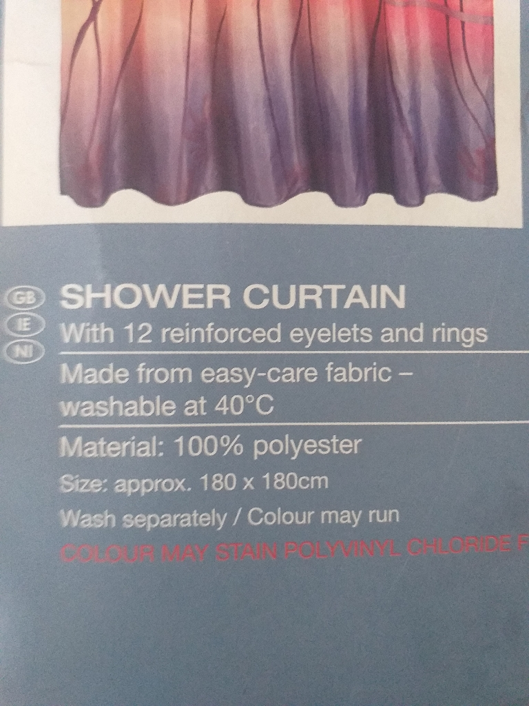 Shower or bath curtains. New