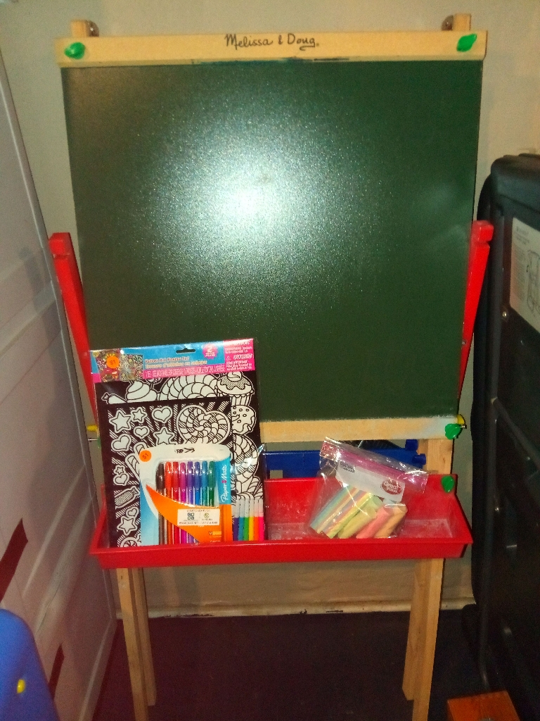 Melissa and Doug chalk and marker board. We'll deliver local read all