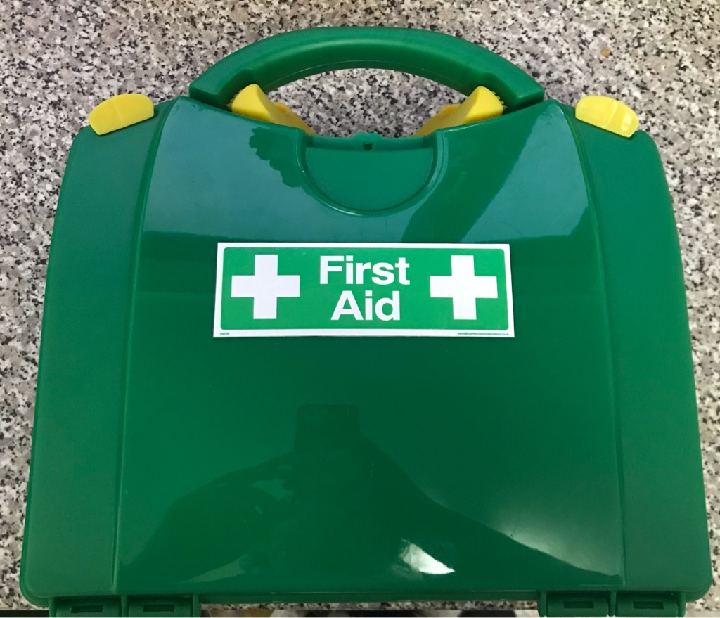 Large empty first aid box