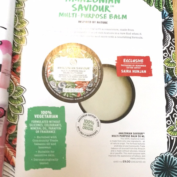 The body shop multi- purpose balm